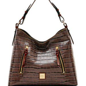NWT Dooney & Bourke Croco Cooper Hobo Bag NEW